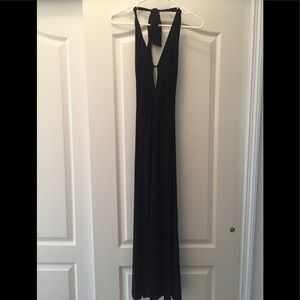 Formal black halter dress
